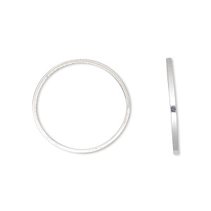 component, sterling silver, 20mm round square wire. sold per pkg of 2.