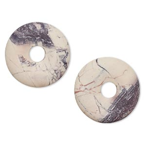 component, terra rosa jasper (natural), matte, 25mm round donut, b grade, mohs hardness 6-1/2 to 7. sold per pkg of 2.