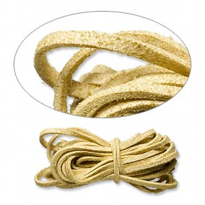 cord, faux suede lace, tan, 3mm. sold per pkg of 5 yards.