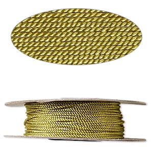 cord, nylon, olive green, 1mm twisted. sold per 100-foot spool.
