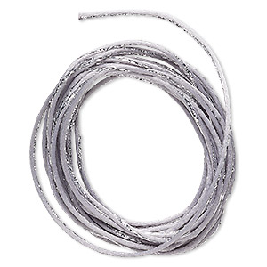 cord, satinique™, nylon, silver and grey, 2mm regular with vertical stripe. sold per 10-foot section.