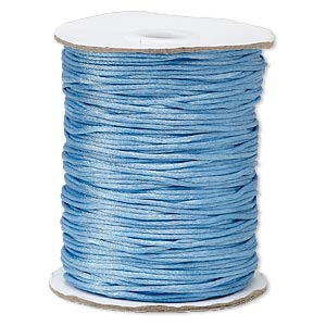 cord, satinique™, satin, denim blue, 1.5mm small. sold per 400-foot spool.