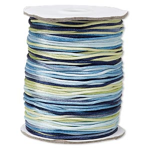 cord, satinique™, satin, ocean, 1.5mm small. sold per 400-foot spool.