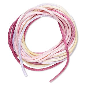 cord, satinique™, satin, tenderness, 2mm regular. sold per pkg of 10 feet.