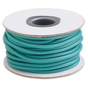 cord, synthetic rubber, sea foam green, 3mm round. sold per 10-meter spool.
