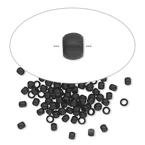 crimp, painted brass, black, 2.5mm round, 1.5mm inside diameter. sold per pkg of 100.