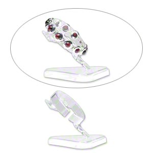 display, bracelet, acrylic, clear, 3 inches. sold per pkg of 8.