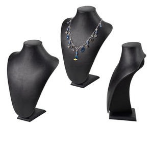 display, necklace, leatherette, black, 12x9 inches. sold individually.