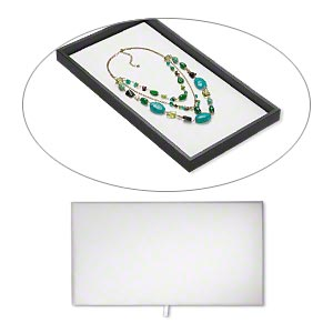 display pad, leatherette, white, 14 x 7-1/2 x 1/4 inches. sold individually.