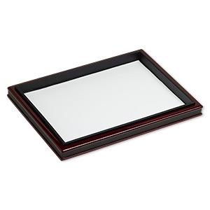 display tray, fiber board, brown and black, 12-1/2 x 9 x 1-inch easel. sold individually.
