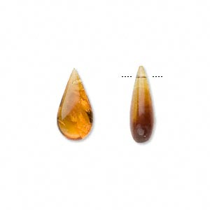 drop, baltic amber (heated), 14x8mm-20x12mm teardrop, b grade, mohs hardness 2 to 2-1/2. sold per pkg of 2.