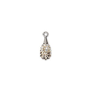 Swarovski pav drop pendant 67563 charms pendants and drops 1 drop pkg aloadofball Choice Image