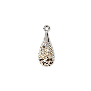 Swarovski pav drop pendant 67563 charms pendants and drops 1 drop pkg mozeypictures Gallery