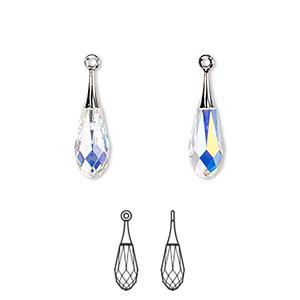 Swarovski pure drop pendant 6532 charms pendants and drops fire 1 drop pkg aloadofball Image collections