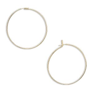 earring, 14kt gold-filled, 19mm round hoop. sold per pkg of 5 pairs.