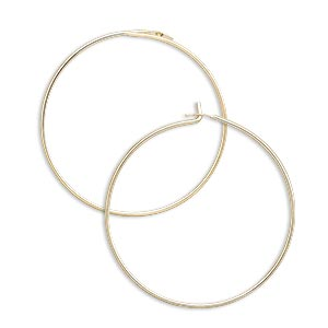 earring, 14kt gold-filled, 25mm round hoop. sold per pkg of 25 pairs.