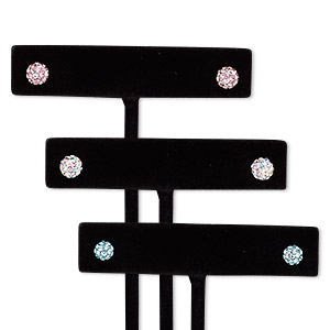 earring, preciosa czech glass rhinestone / epoxy / sterling silver, assorted colors, 5mm and 6mm round with post. sold per pkg of 3 pairs.