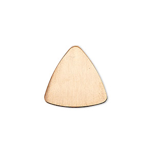 embellishment, copper, 18mm undrilled double-sided shiny flat triangle blank, 18 gauge. sold per pkg of 10.