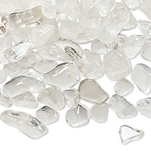 embellishment mix, quartz crystal (natural), small to large hand-cut undrilled chip, mohs hardness 7. sold per 1-pound pkg, approximately 1,400-1,600 pieces.