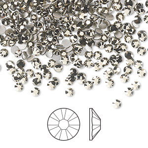 flat back, swarovski crystal rhinestone, crystal passions, crystal metallic light gold, foil back, 2.5-2.7mm xilion rose (2058), ss9. sold per pkg of 1,440 (10 gross).