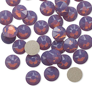 flat back, swarovski crystal rhinestone, crystal passions, cyclamen opal, foil back, 7.07-7.27mm xirius rose (2088), ss34. sold per pkg of 144 (1 gross).
