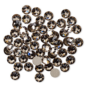 flat back, swarovski crystal rhinestone, crystal passions, greige, foil back, 4.6-4.8mm xirius rose (2088), ss20. sold per pkg of 144 (1 gross).