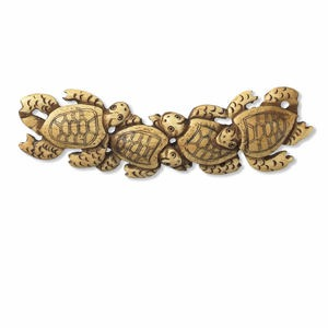 focal, antiqued bone (dyed), 4-1/2 x 2-3/4 inch single-sided hand-carved turtles. sold individually.