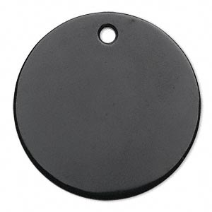 focal, black onyx (dyed), 40mm flat round, b grade, mohs hardness 6-1/2 to 7. sold individually.