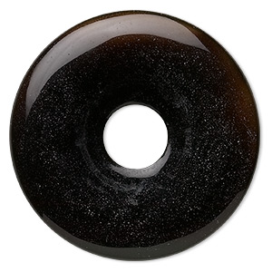 focal, black onyx (dyed), 50mm round donut, b grade, mohs hardness 6-1/2 to 7. sold individually.