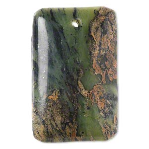 focal, brown crazy lace agate (natural), 40x25mm hand-cut top-drilled domed rectangle with flat back, b grade, mohs hardness 6-1/2 to 7. sold individually.