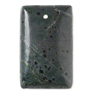 focal, camo stone™ (natural), 40x25mm hand-cut top-drilled domed rectangle with flat back, b grade, mohs hardness 6-1/2 to 7. sold individually.