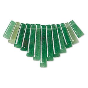 Fan malachite charms pendants and drops fire mountain gems and beads 1 fan pkg aloadofball Choice Image