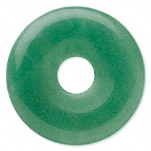 focal, green aventurine (natural), 40mm round donut, b grade, mohs hardness 7. sold per pkg of 2.