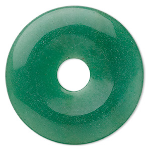 focal, green aventurine (natural), 50mm round donut, b grade, mohs hardness 7. sold individually.