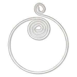 focal, hill tribes, silver-plated brass, 2-inch round with cutout and spiral design. sold individually.