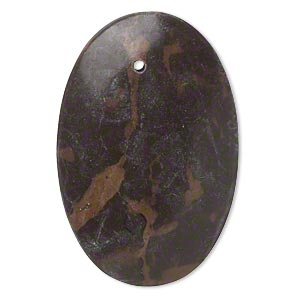 focal, portoro marble (natural), 42x30mm-46x36mm puffed oval with flat back, c grade, mohs hardness 3. sold individually. minimum 2 per order.