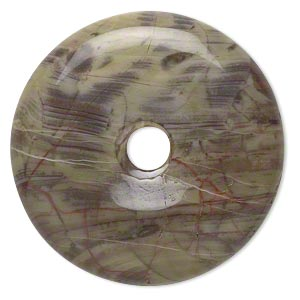 focal, sierra agate (natural), 30mm hand-cut round donut, b grade, mohs hardness 6-1/2 to 7. sold per pkg of 2.