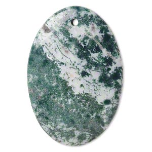 focal, tree agate (natural), 50x35mm hand-cut top-drilled flat oval, b grade, mohs hardness 6-1/2 to 7. sold individually.