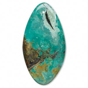 focal, turquoise (dyed / stabilized), 80x42mm freeform oval, c grade, mohs hardness 5 to 6. sold individually.
