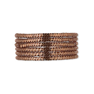 french wire, copper, brown, 1.5mm spiral. sold per pkg of 20 grams, approximately 25 feet.