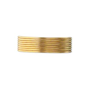 french wire, gold-plated brass, 0.7mm tube. sold per pkg of (2) 19-1/2 inch strands.