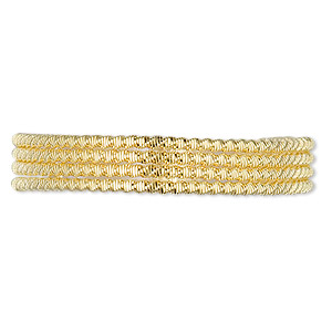 french wire, gold-plated copper, 1mm fancy zigzag. sold per approximately 13-1/2 to 15 inch strand.