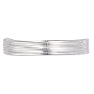 french wire, sterling silver, 0.8mm tube. sold per approximately 27-30 inch strand.