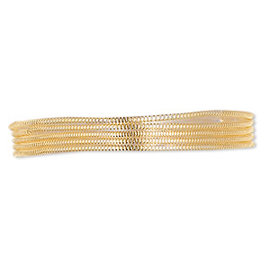 french wire, vermeil, 0.8mm. sold per approximately 18-inch strand.