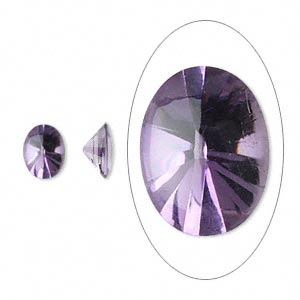 gem, amethyst (natural), 8x6mm buffed-top faceted oval, a grade, mohs hardness 7. sold per pkg of 2.