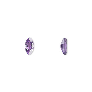 gem, amethyst (natural), light to medium, 8x4mm faceted marquise, a grade, mohs hardness 7. sold per pkg of 2.