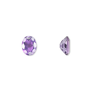 gem, amethyst (natural), light to medium, 8x6mm faceted oval, a grade, mohs hardness 7. sold individually.