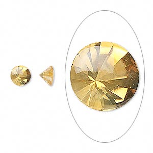 gem, citrine (heated), 6mm buffed-top faceted round, a grade, mohs hardness 7. sold per pkg of 2.