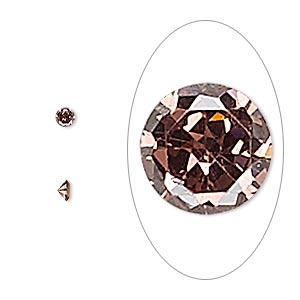 gem, cubic zirconia, alexandrite purple, 3mm faceted round, mohs hardness 8-1/2. sold per pkg of 5.