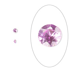gem, cubic zirconia, sapphire rose, 2mm faceted round, mohs hardness 8-1/2. sold per pkg of 10.